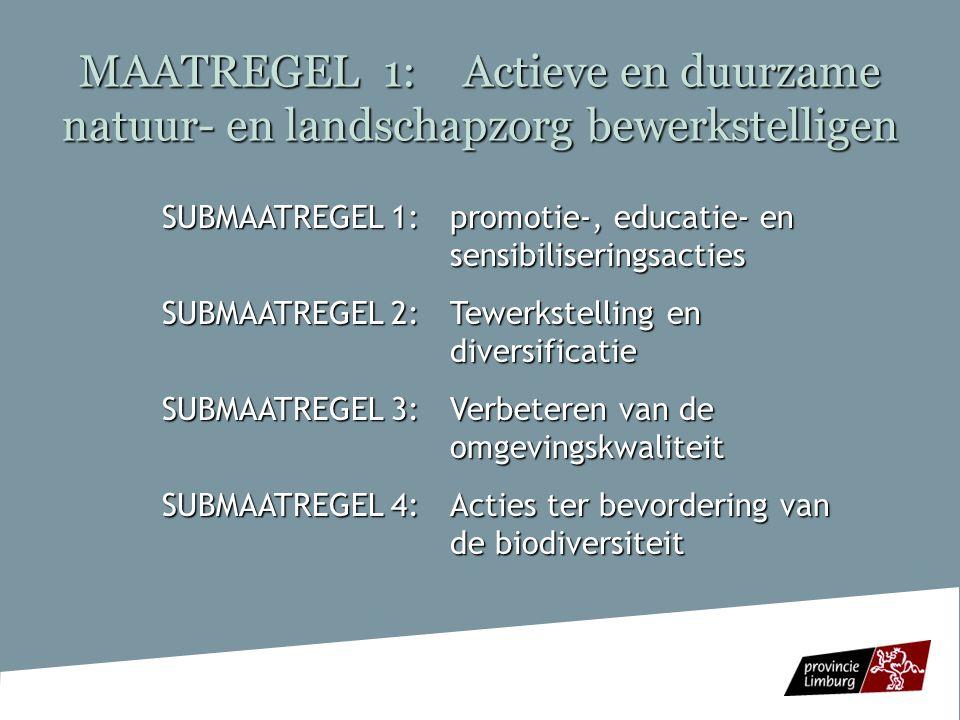 MAATREGEL 1: Actieve en duurzame natuur- en landschapzorg bewerkstelligen