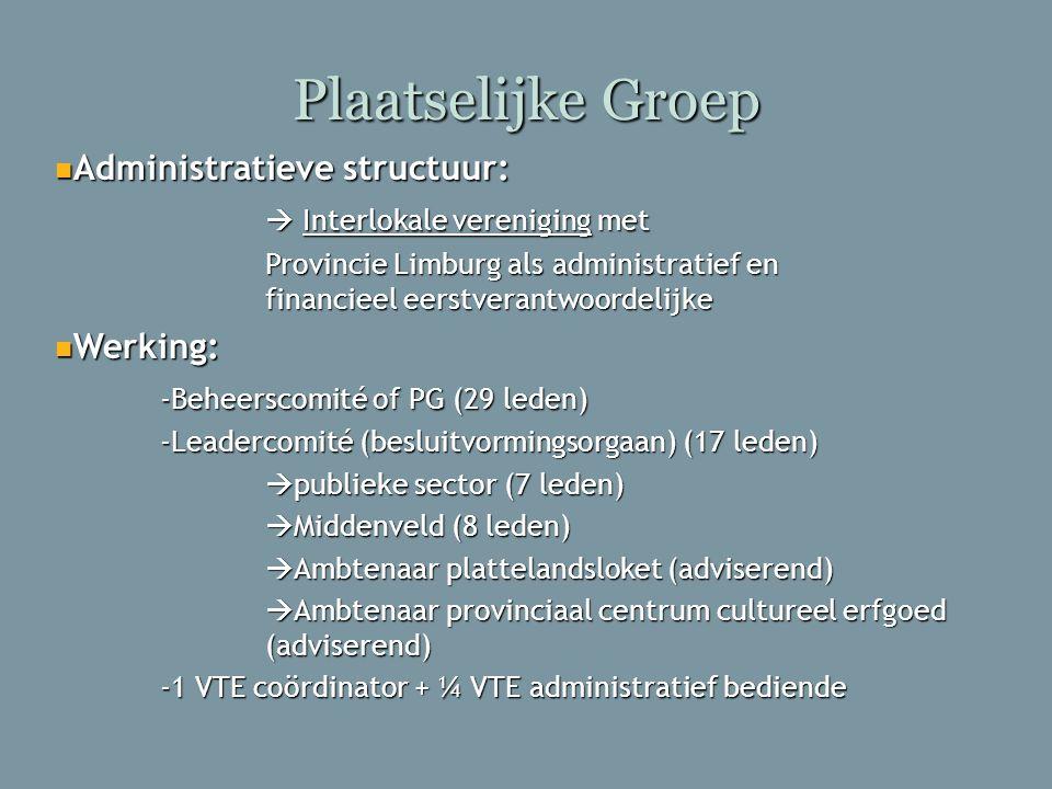 Plaatselijke Groep Administratieve structuur:
