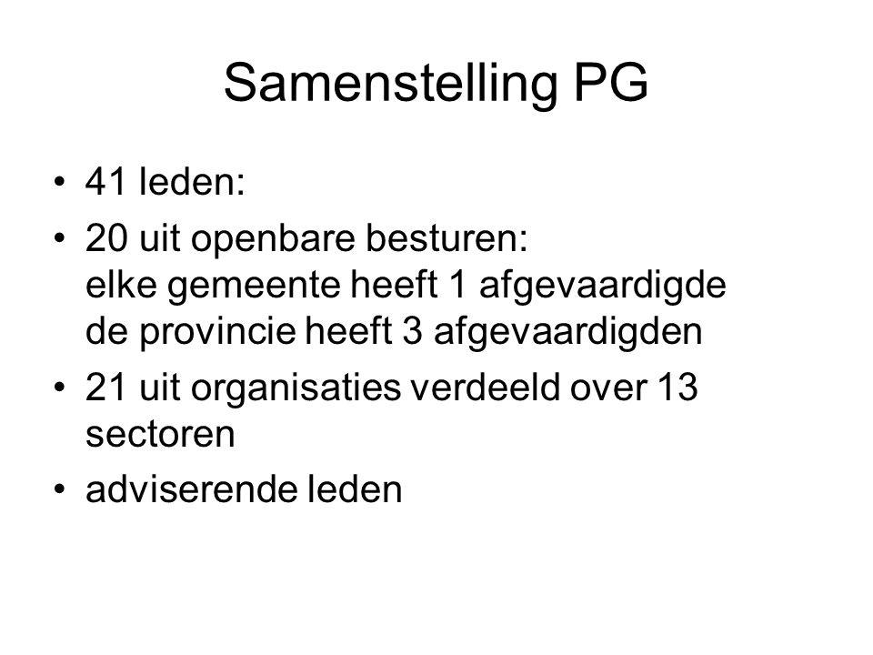 Samenstelling PG 41 leden: