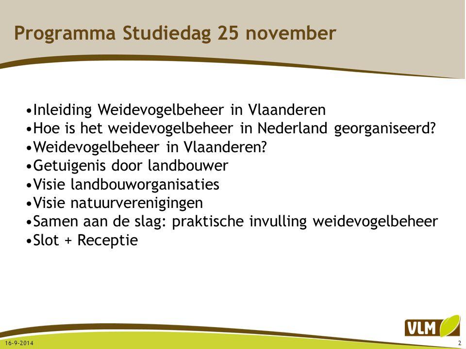 Programma Studiedag 25 november