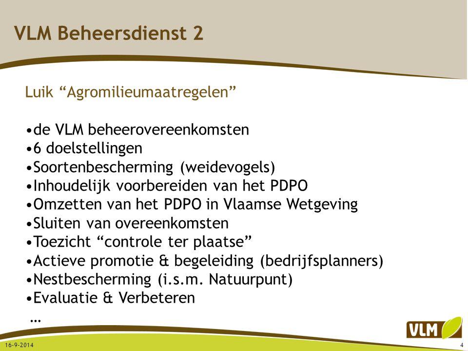 VLM Beheersdienst 2 Luik Agromilieumaatregelen