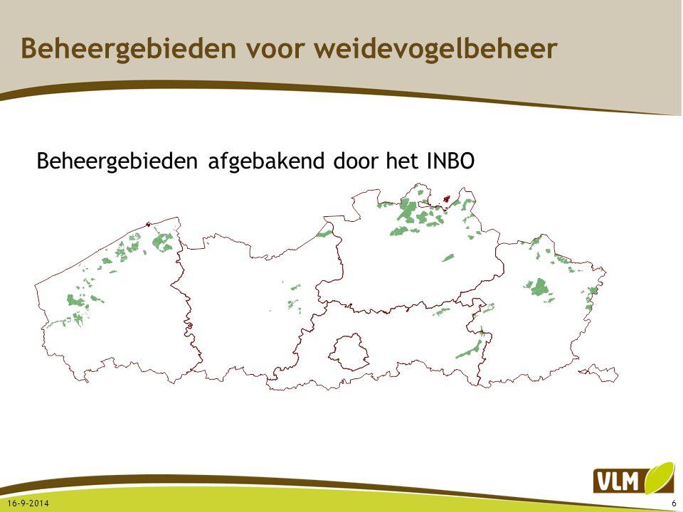 Beheergebieden voor weidevogelbeheer