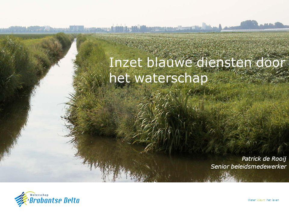 Inzet blauwe diensten door het waterschap