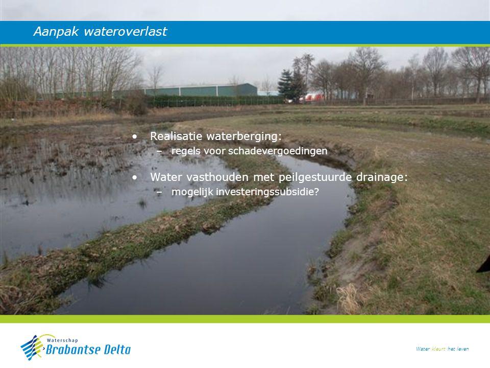 Aanpak wateroverlast Realisatie waterberging: