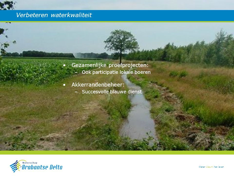 Verbeteren waterkwaliteit
