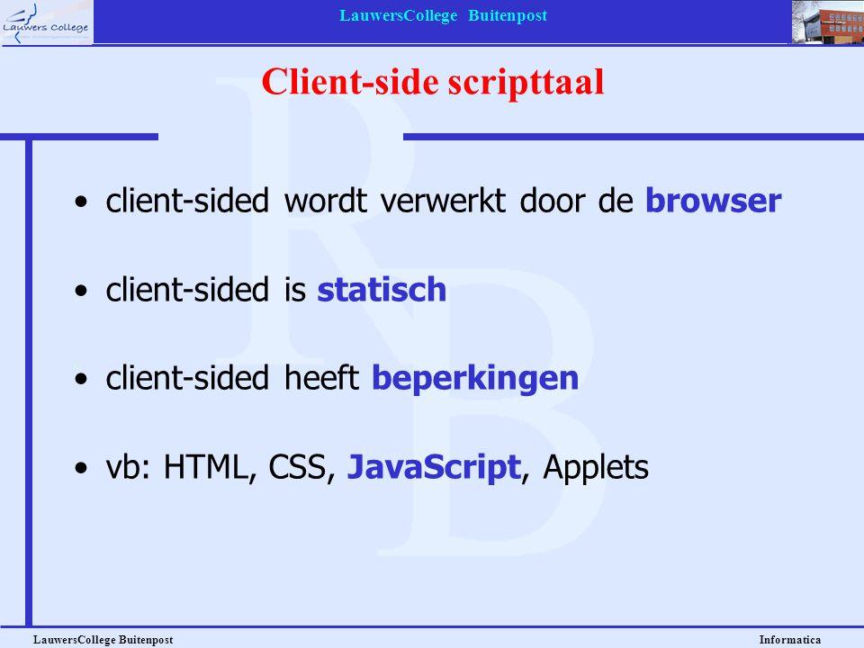 Client-side scripttaal