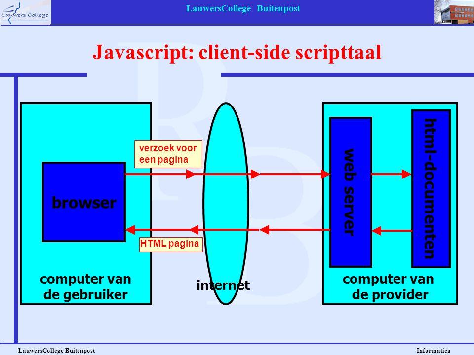 Javascript: client-side scripttaal