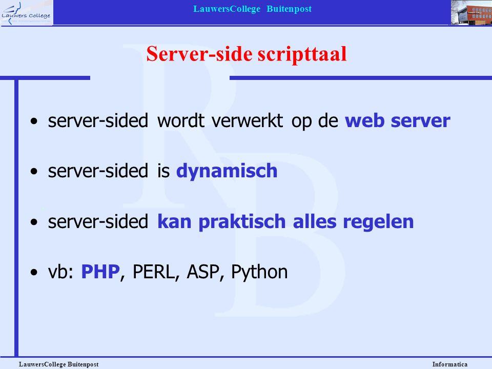 Server-side scripttaal