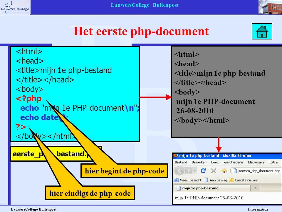 Het eerste php-document