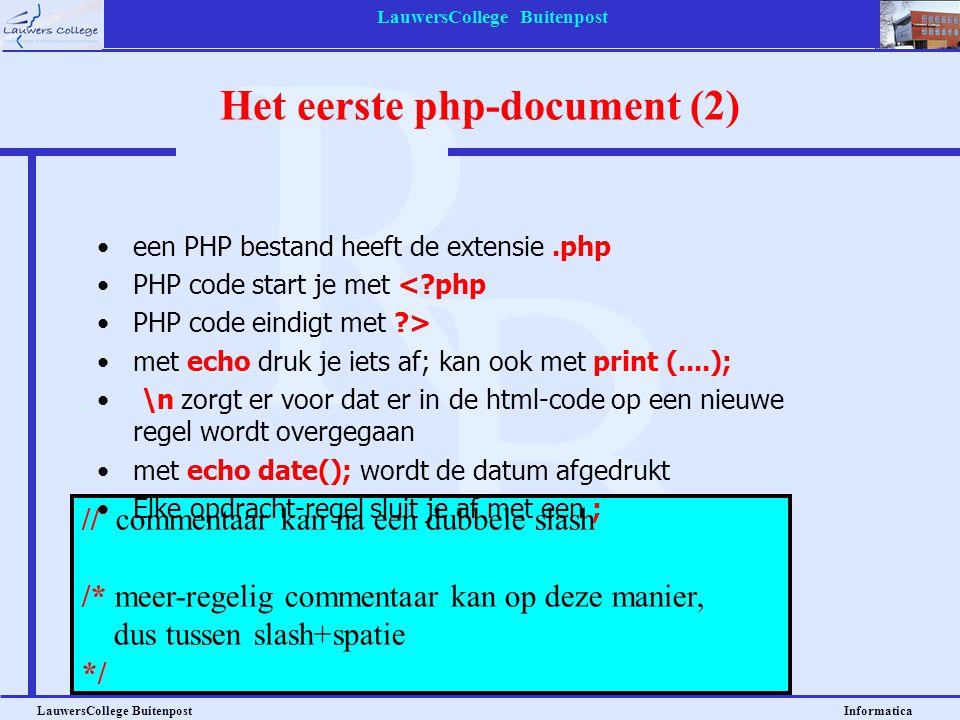Het eerste php-document (2)