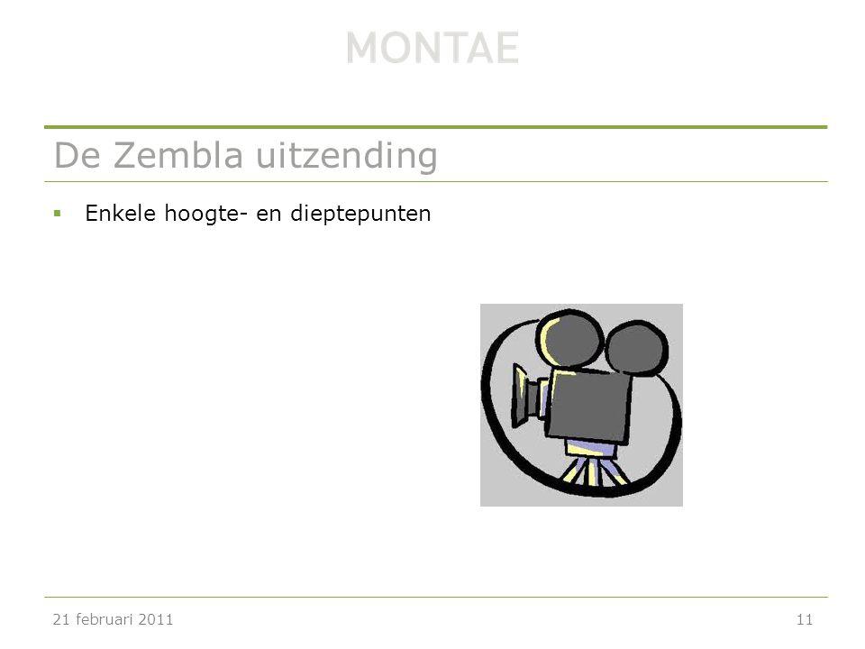 De Zembla uitzending Enkele hoogte- en dieptepunten 21 februari 2011