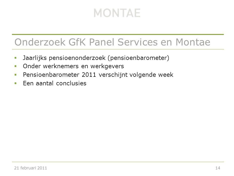 Onderzoek GfK Panel Services en Montae