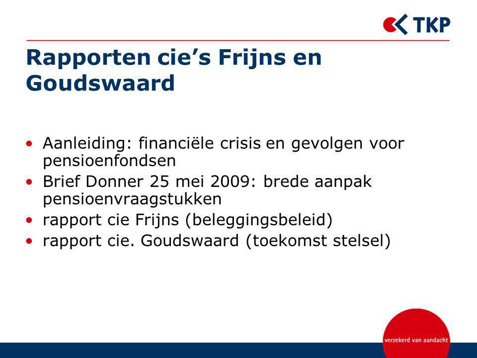 Rapporten cie's Frijns en Goudswaard