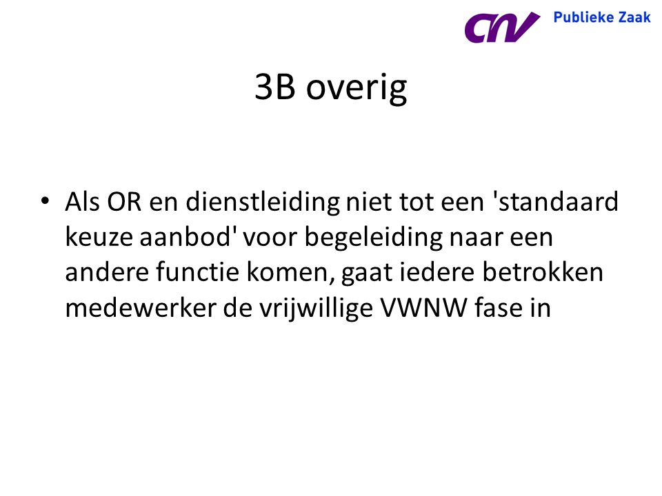 3B overig