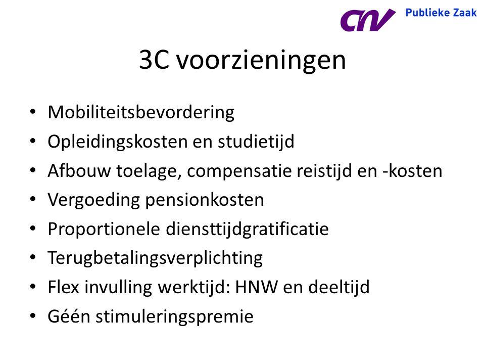 3C voorzieningen Mobiliteitsbevordering Opleidingskosten en studietijd