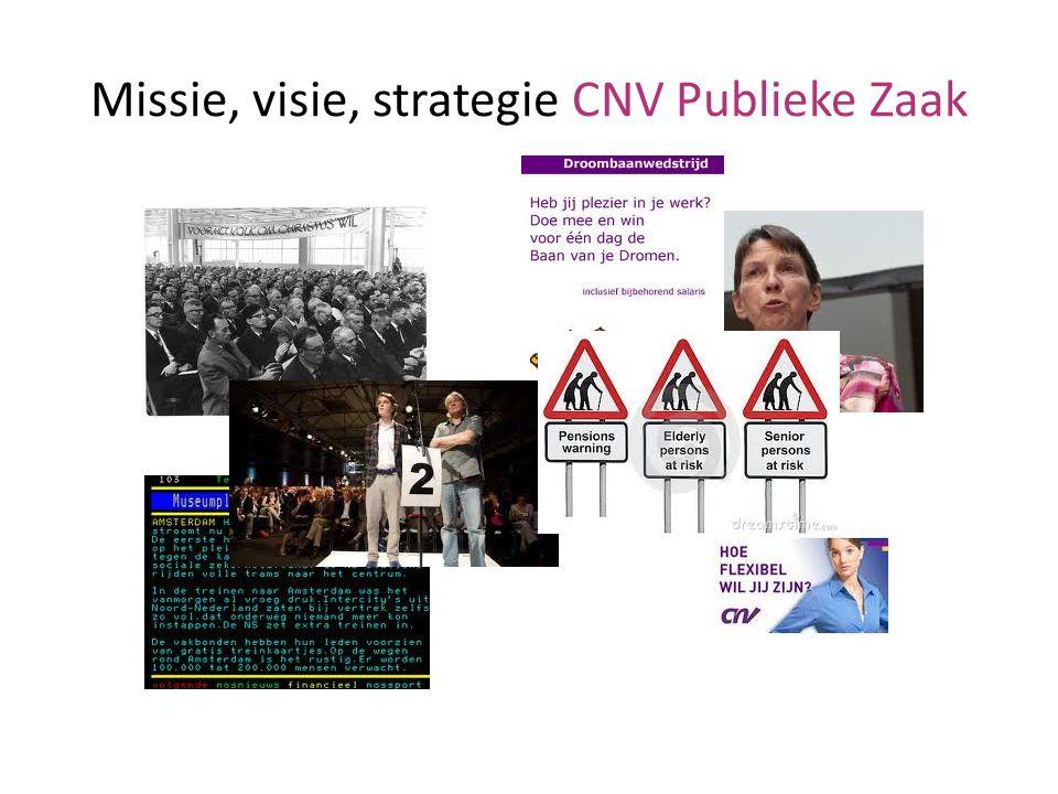 Missie, visie, strategie CNV Publieke Zaak