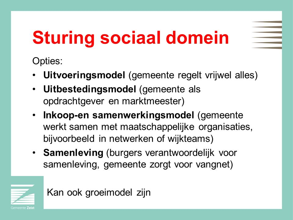 Sturing sociaal domein