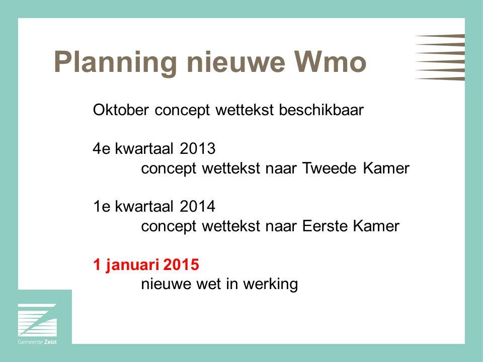 Planning nieuwe Wmo Oktober concept wettekst beschikbaar
