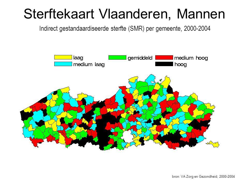 Sterftekaart Vlaanderen, Mannen