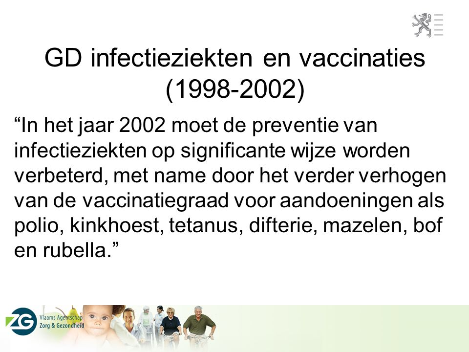 GD infectieziekten en vaccinaties (1998-2002)