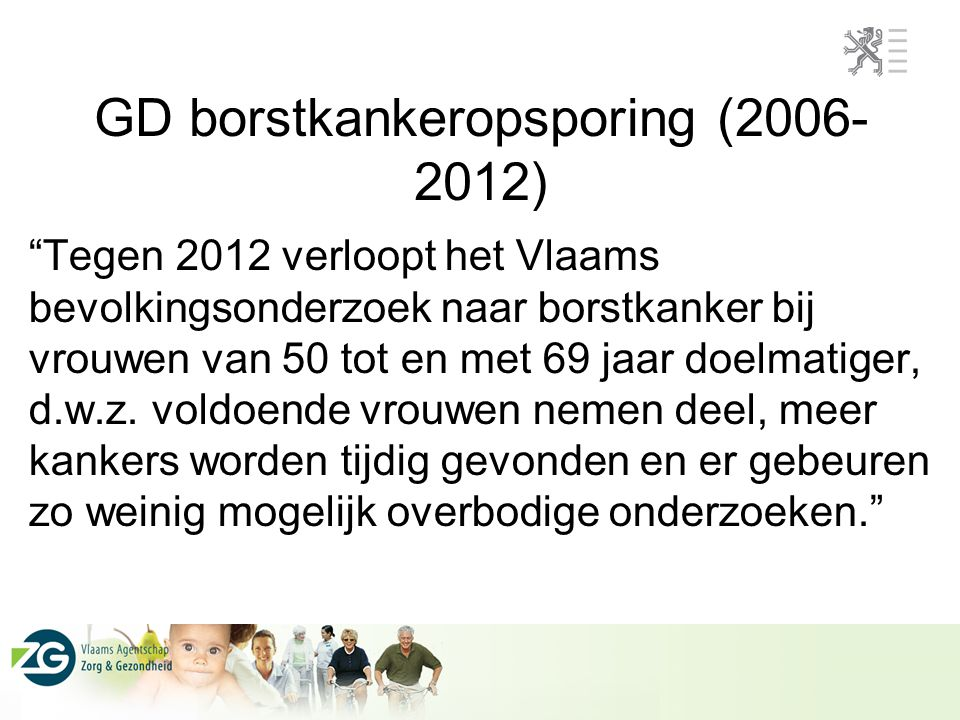 GD borstkankeropsporing (2006-2012)