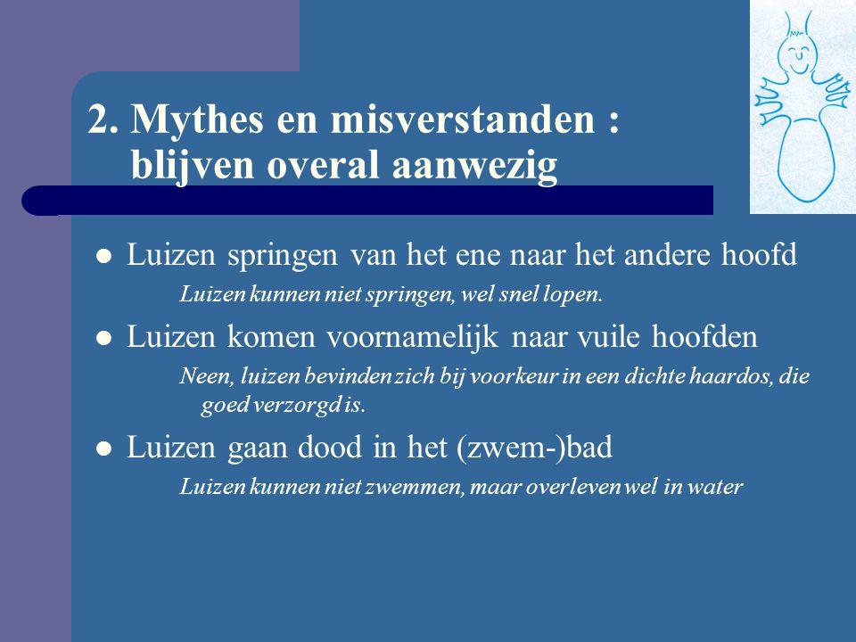 2. Mythes en misverstanden : blijven overal aanwezig