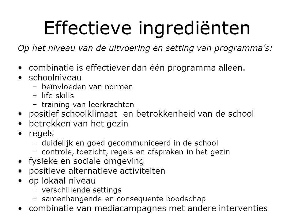 Effectieve ingrediënten