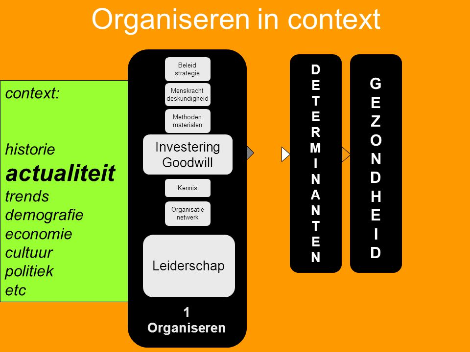 Organiseren in context
