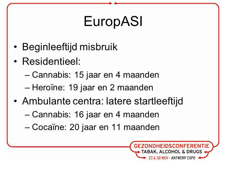 EuropASI Beginleeftijd misbruik Residentieel: