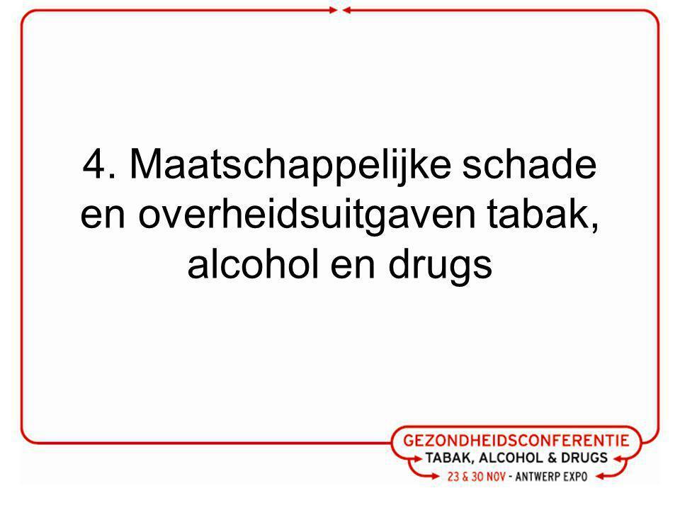4. Maatschappelijke schade en overheidsuitgaven tabak, alcohol en drugs