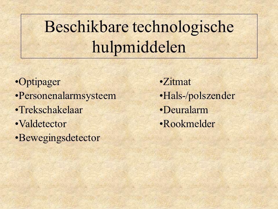 Beschikbare technologische hulpmiddelen