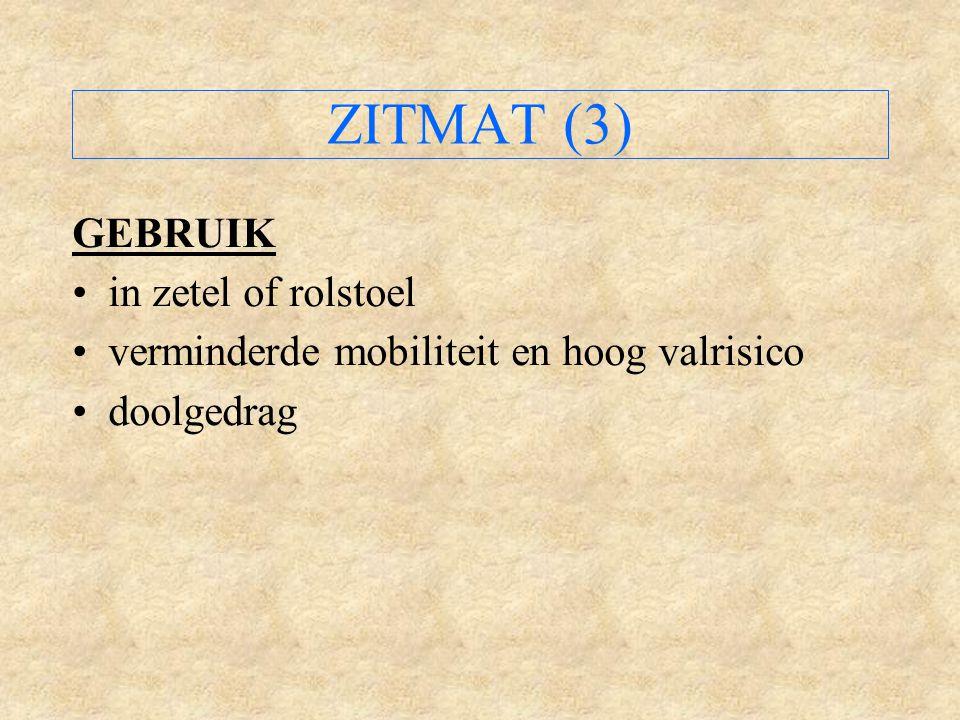 ZITMAT (3) GEBRUIK in zetel of rolstoel
