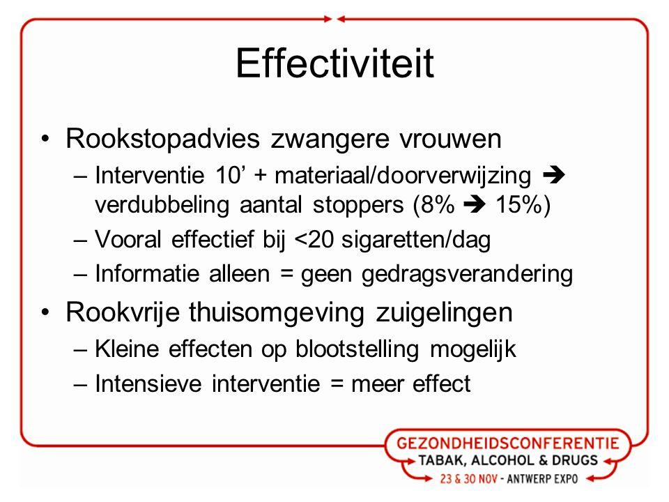 Effectiviteit Rookstopadvies zwangere vrouwen