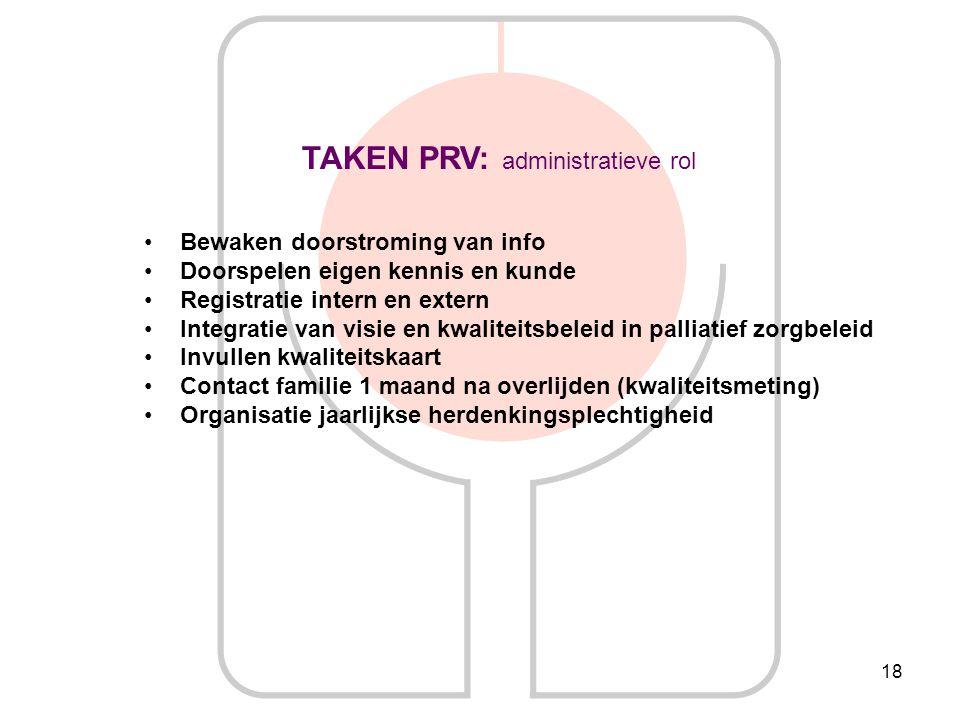 TAKEN PRV: administratieve rol