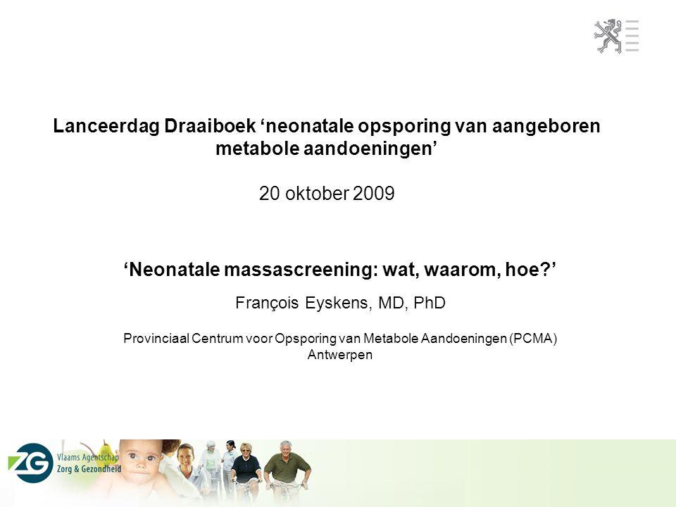 Provinciaal Centrum voor Opsporing van Metabole Aandoeningen (PCMA)