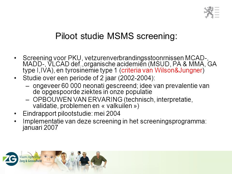 Piloot studie MSMS screening: