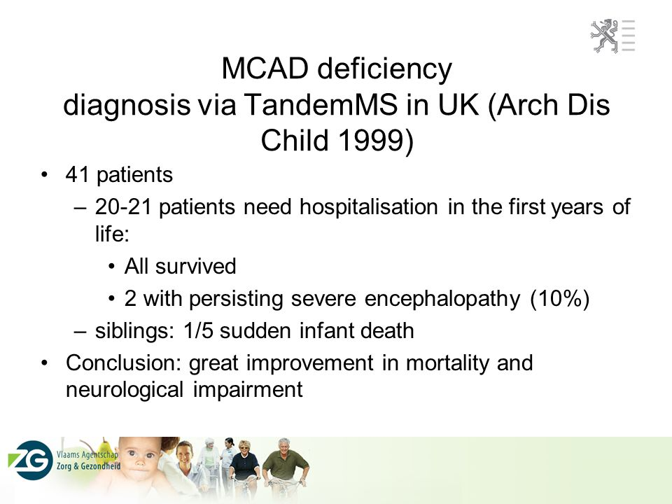 MCAD deficiency diagnosis via TandemMS in UK (Arch Dis Child 1999)
