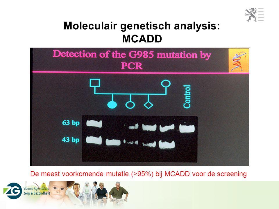 Moleculair genetisch analysis: MCADD