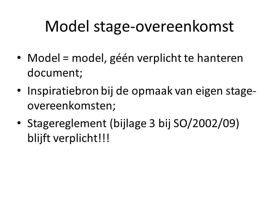 Model stage-overeenkomst