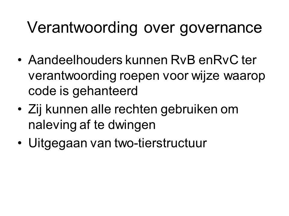Verantwoording over governance