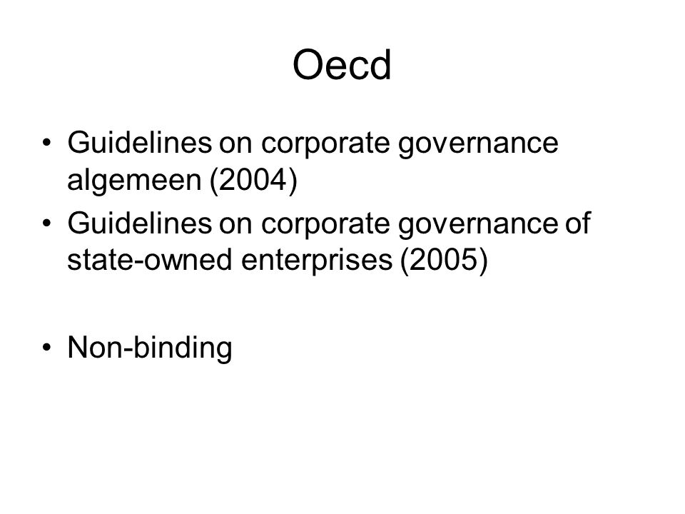 Oecd Guidelines on corporate governance algemeen (2004)