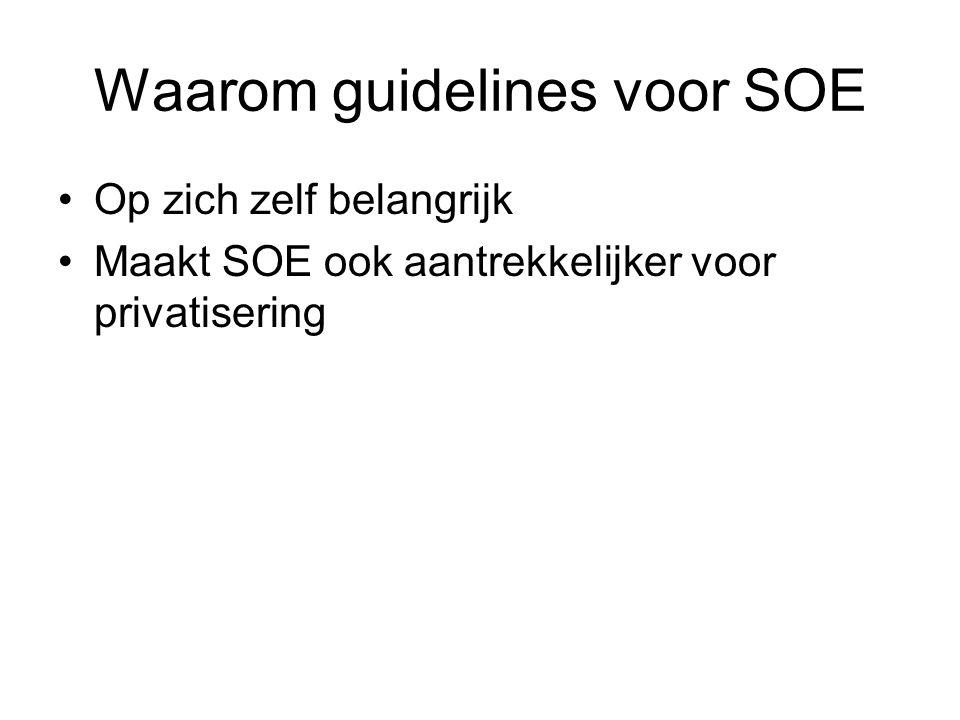 Waarom guidelines voor SOE