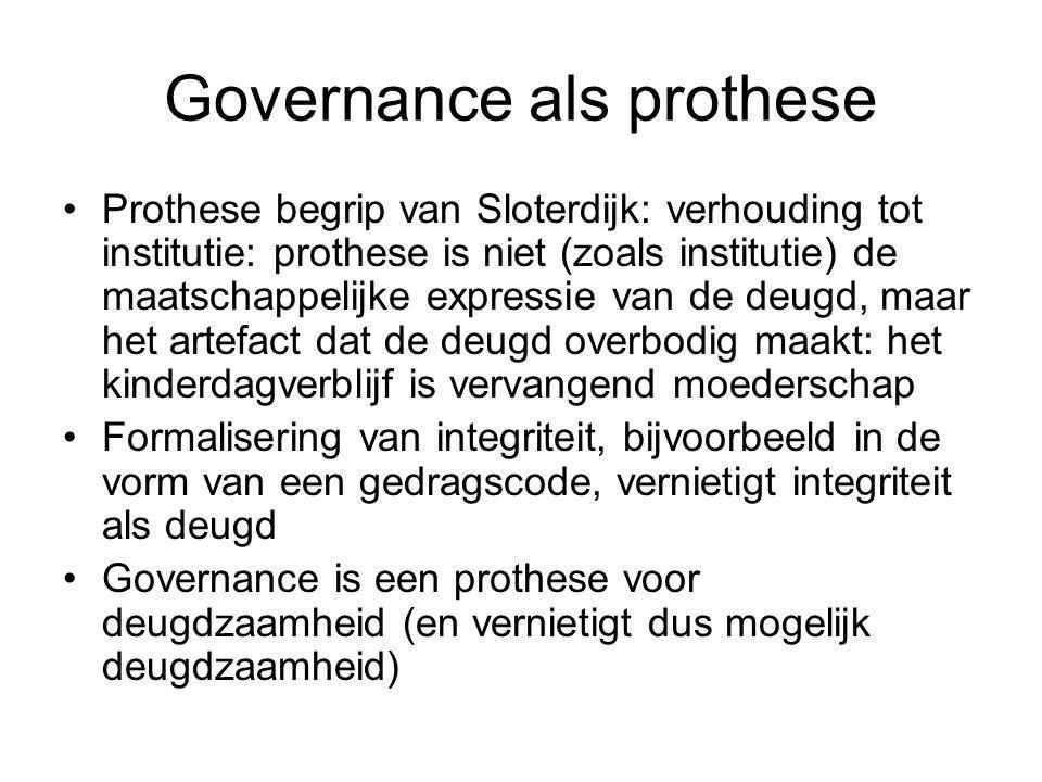 Governance als prothese