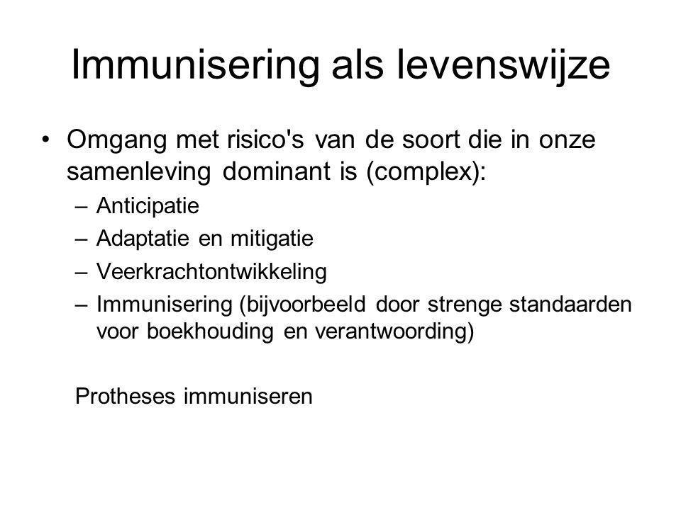 Immunisering als levenswijze