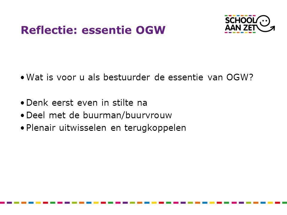 Reflectie: essentie OGW