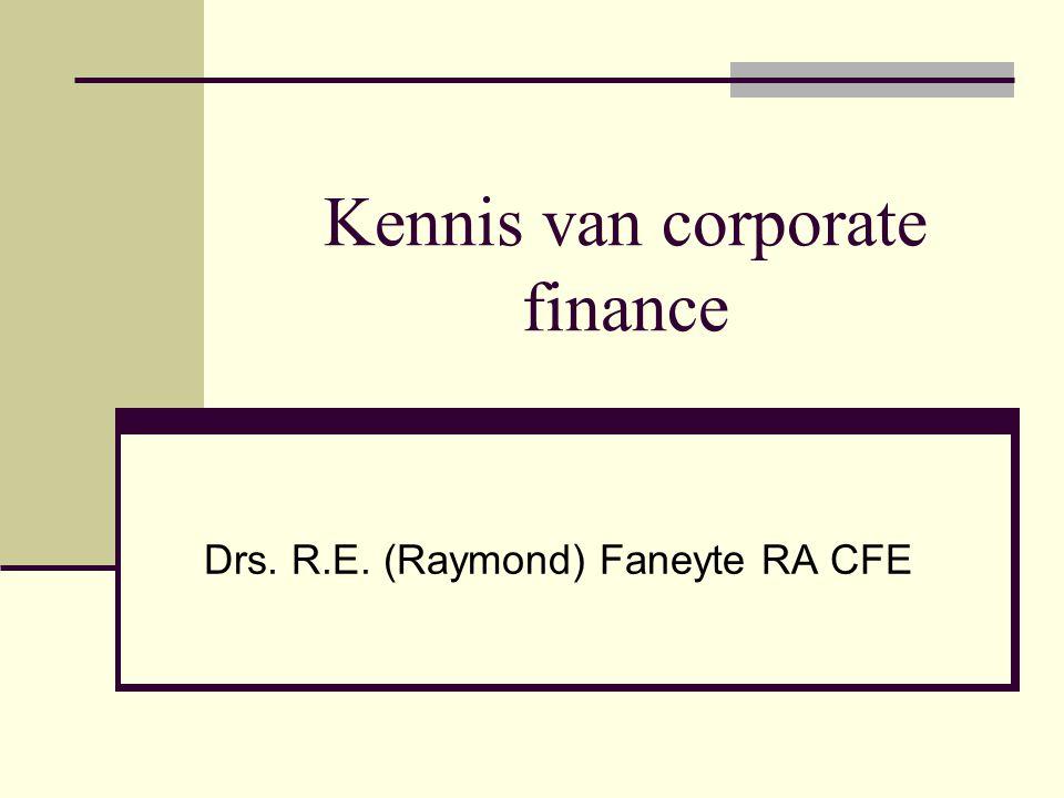 Kennis van corporate finance