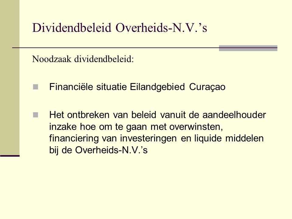 Dividendbeleid Overheids-N.V.'s