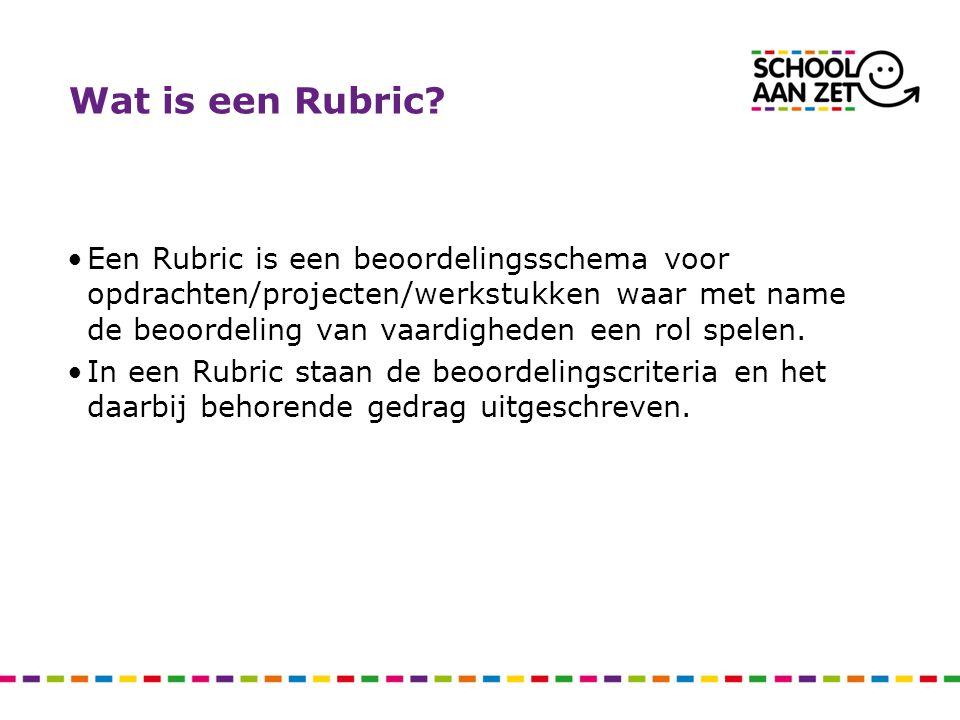 Wat is een Rubric