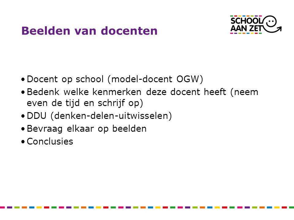 Beelden van docenten Docent op school (model-docent OGW)
