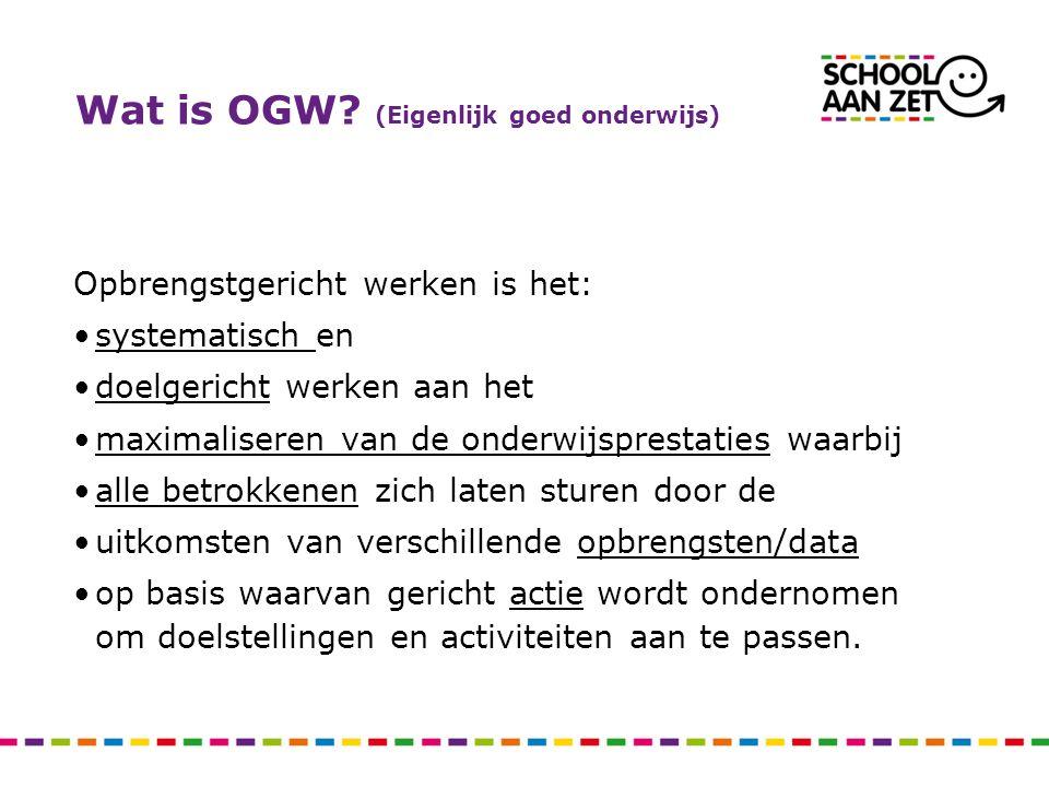 Wat is OGW (Eigenlijk goed onderwijs)